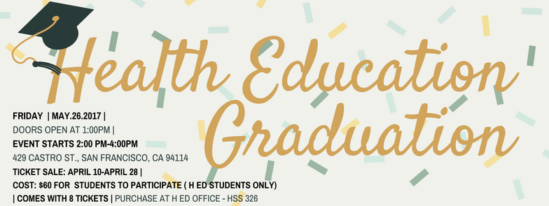 Health Education Graduation banner graphic
