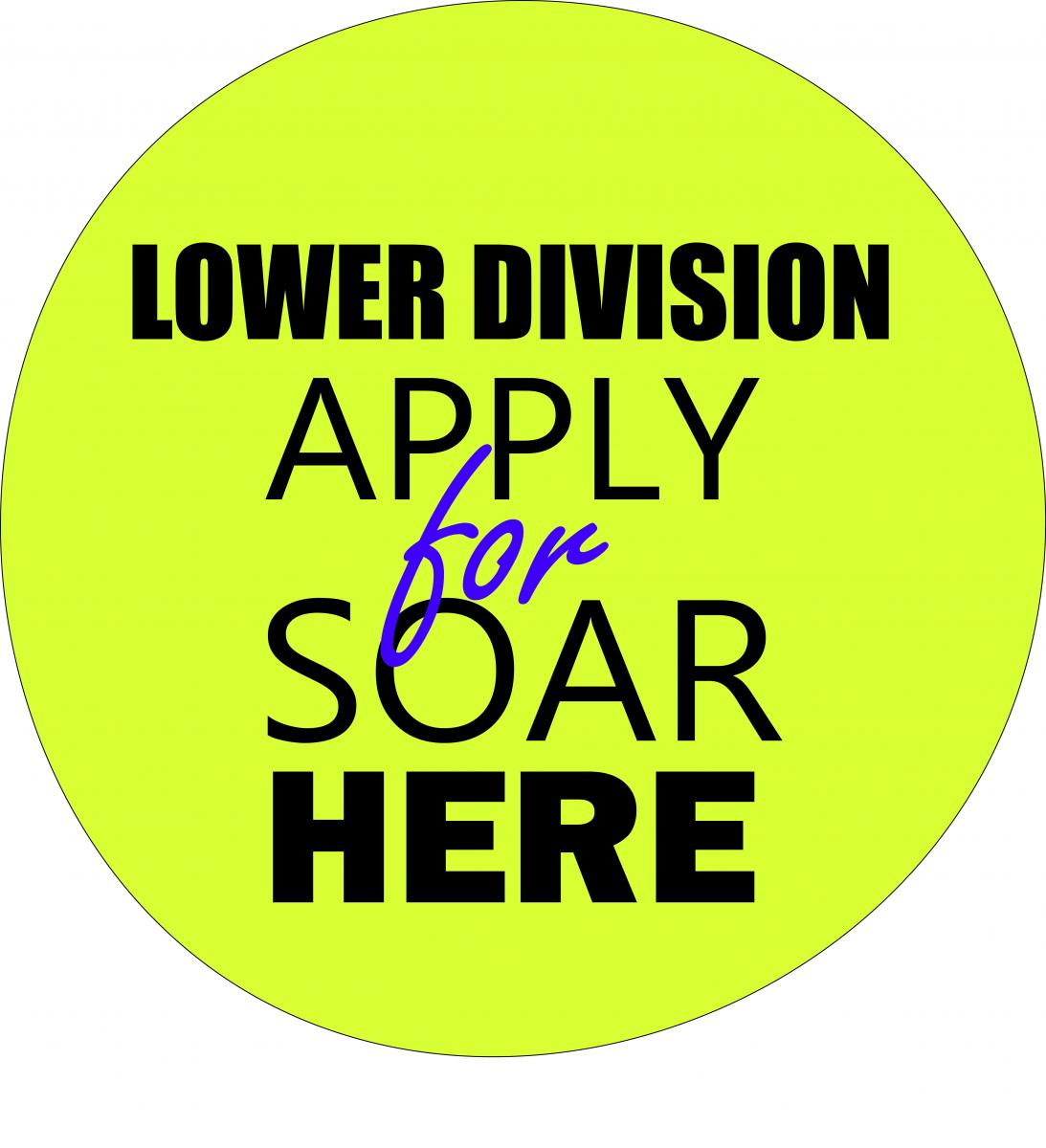 Graphic Image for Link to SOAR Lower Division Application