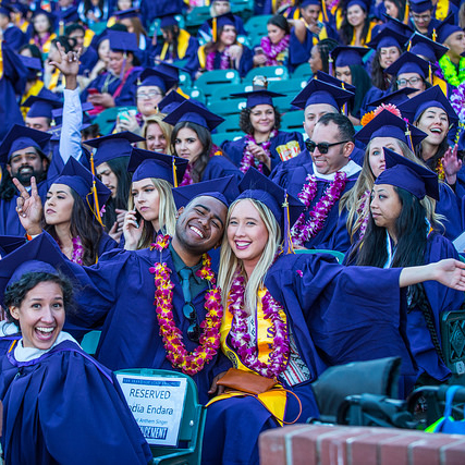 SF State graduates smiling