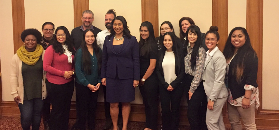 SF Mayor London Breed with Willie Brown Fellows