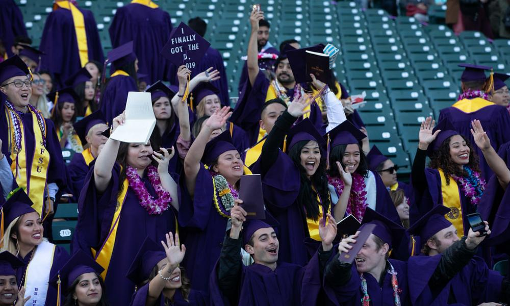 Group of graduates at 2019 Commencement