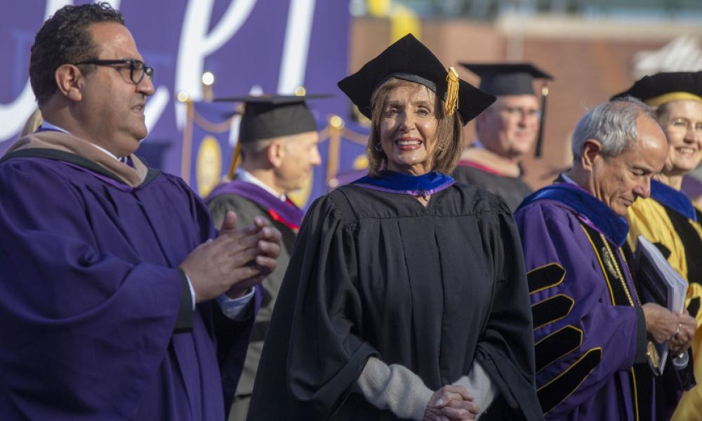 Speaker Pelosi at SF State's 2019 Commencement